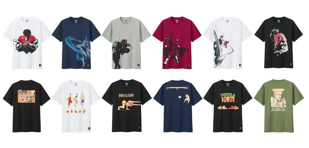 Street Fighter x Uniqlo Crossover T-Shirt發售!受歡迎角色大集合!